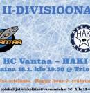 HC Vantaa kohtaa back to back-viikonloppuna HAKIn!